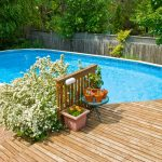 Above Ground Pool Deck Designs Outdoor