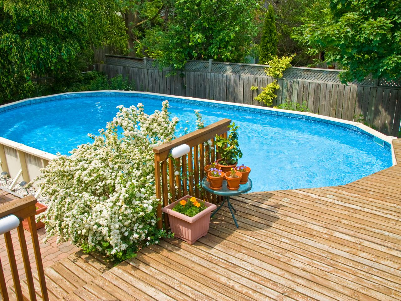 Image of: Above Ground Pool Deck Designs Outdoor