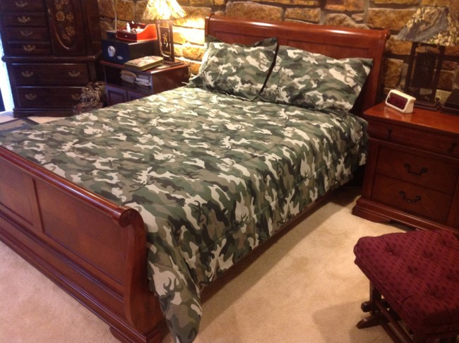 Image of: army Camouflage bedding queen