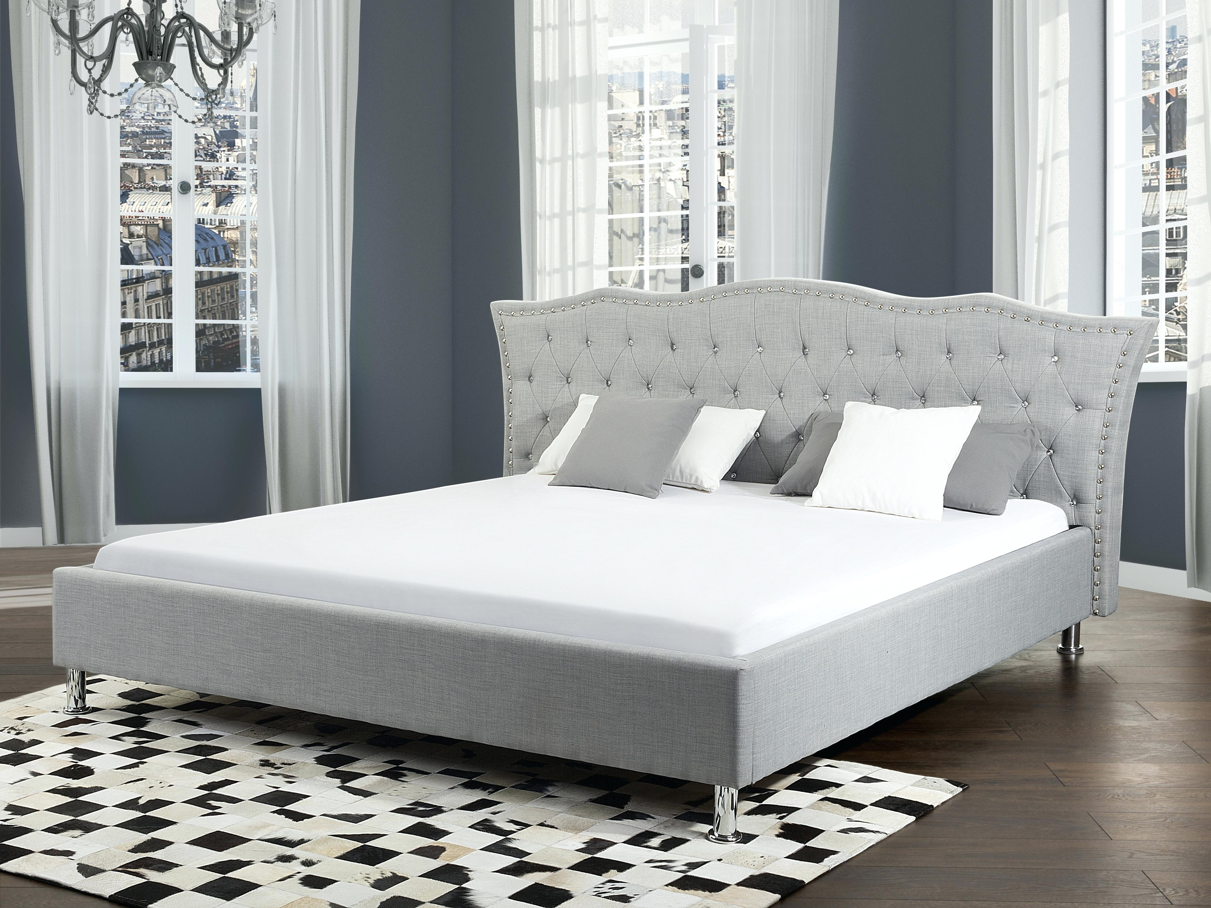 Image of: Awesome Gray Upholstered Headboard