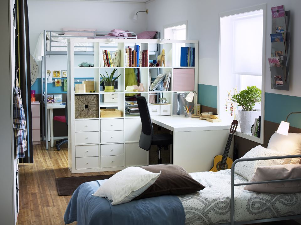 Image of: building a room divider bookcase