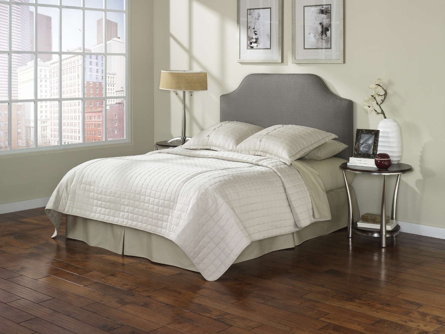 Image of: Cute Gray Upholstered Headboard