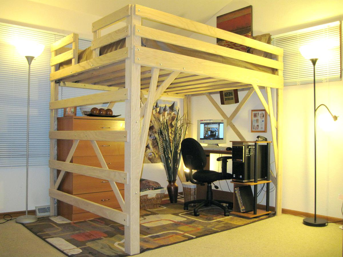 Image of: formidable DIY Loft Full Size Bedchairs