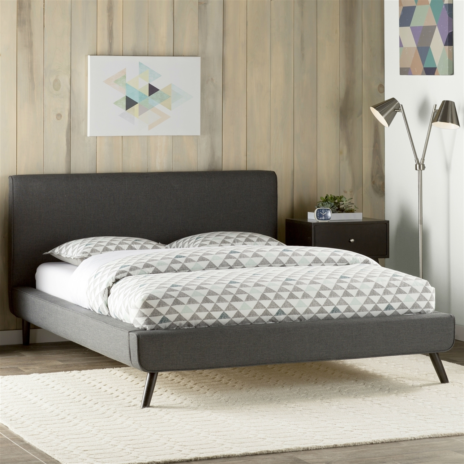 Image of: Good Gray Upholstered Headboard