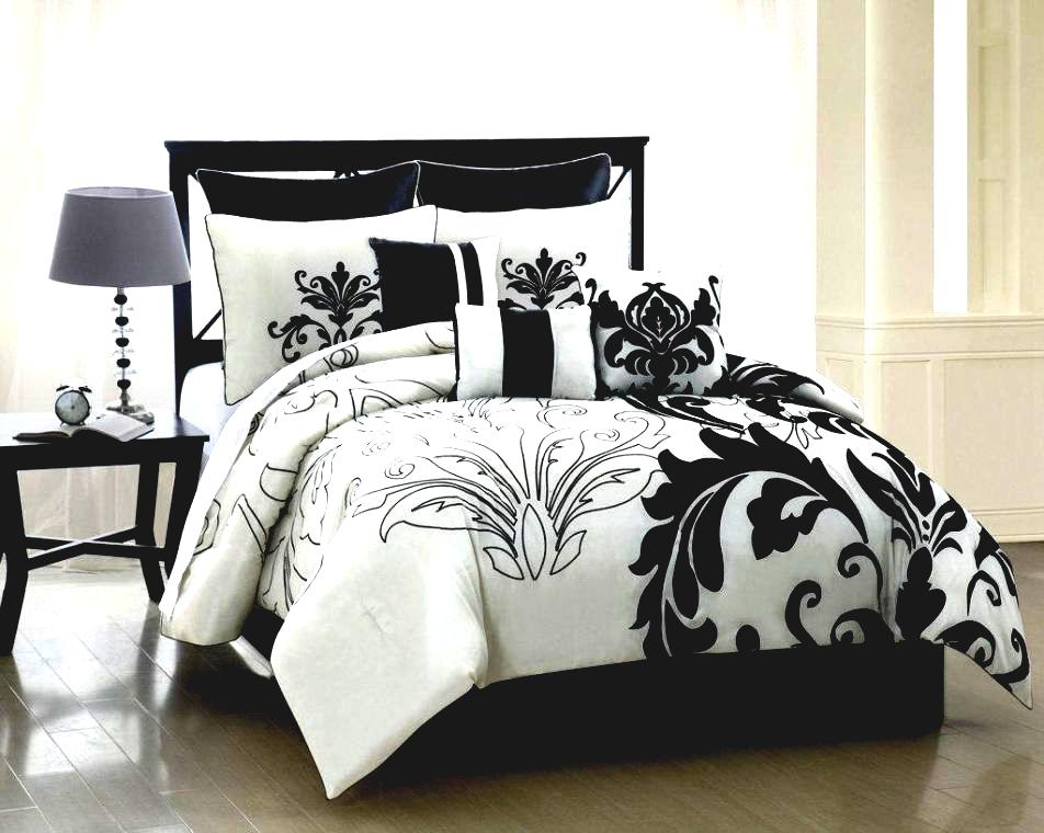 Image of: macys Black and white bedding