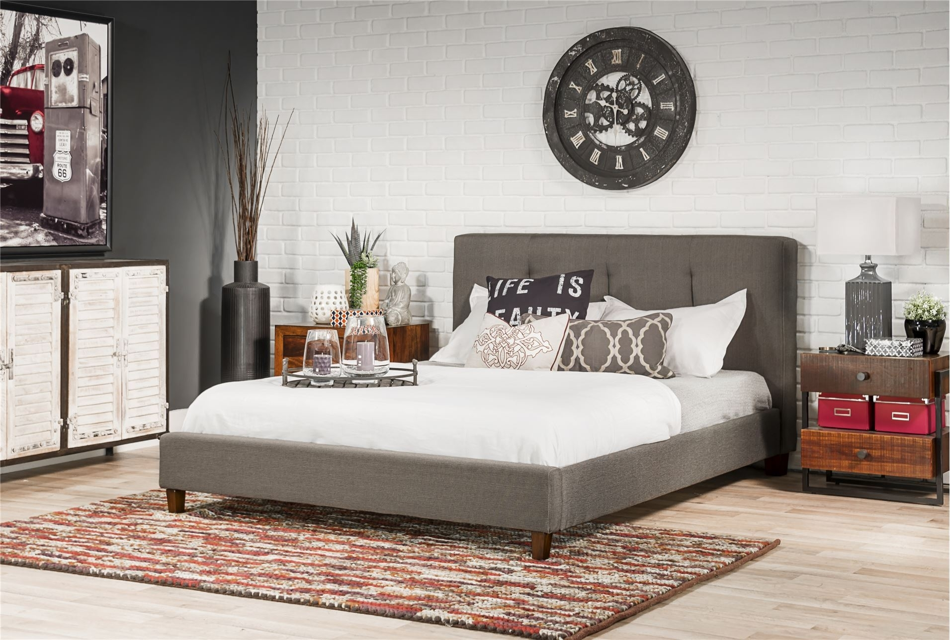 Image of: Marvelous King Tufted Headboard