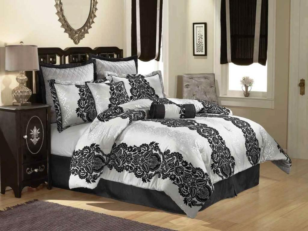 Image of: modern Black and white bedding contemporary