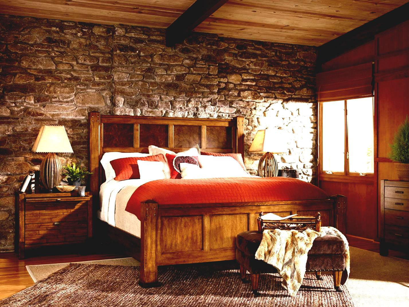 rustic Rustic themed bedroom