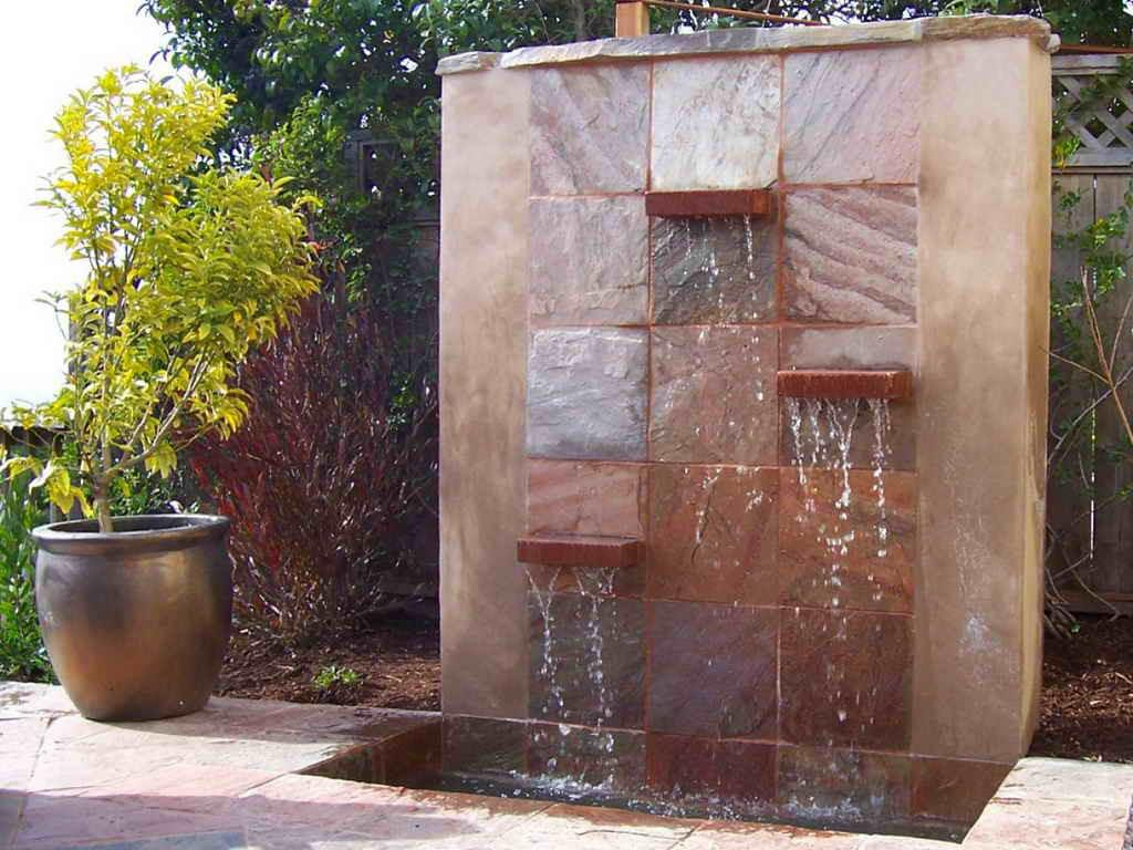 Image of: Modern Wall Fountains Outdoor