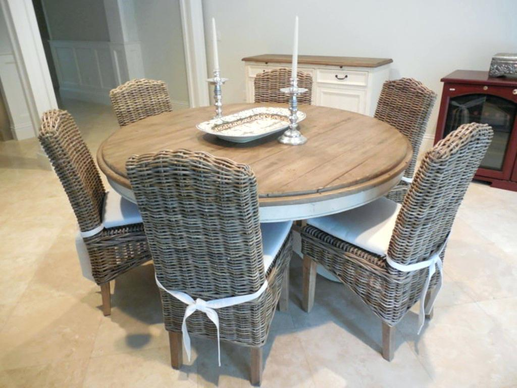 Image of: Wicker Rattan Dining Chairs