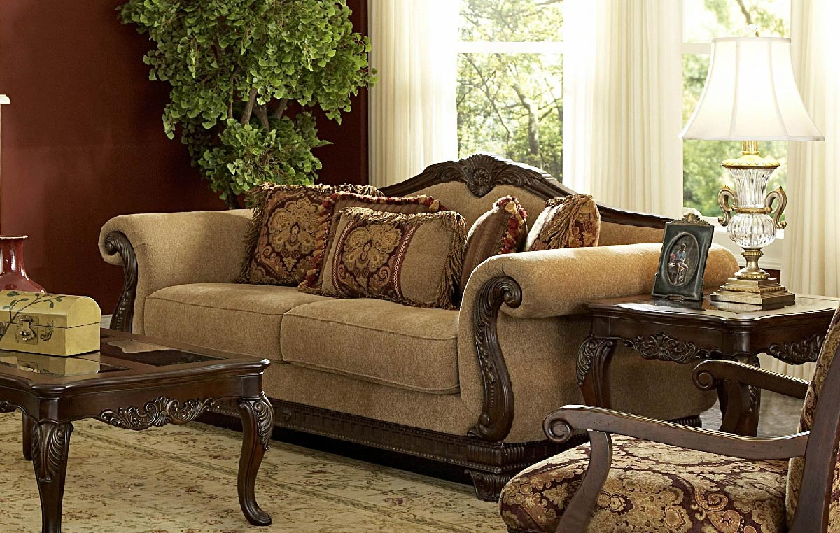 Image of: 3 Piece Living Room Set Antique