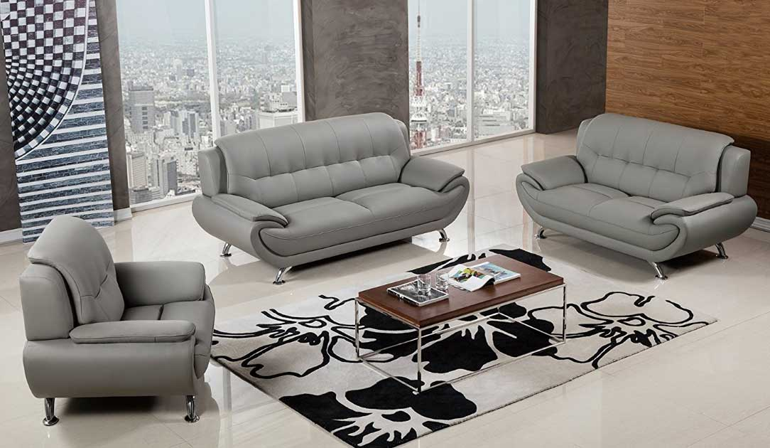 Image of: 3 Piece Living Room Set Grey