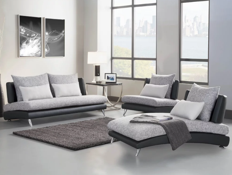 Image of: 3 Piece Living Room Set White