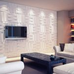 3D White Wall Paneling