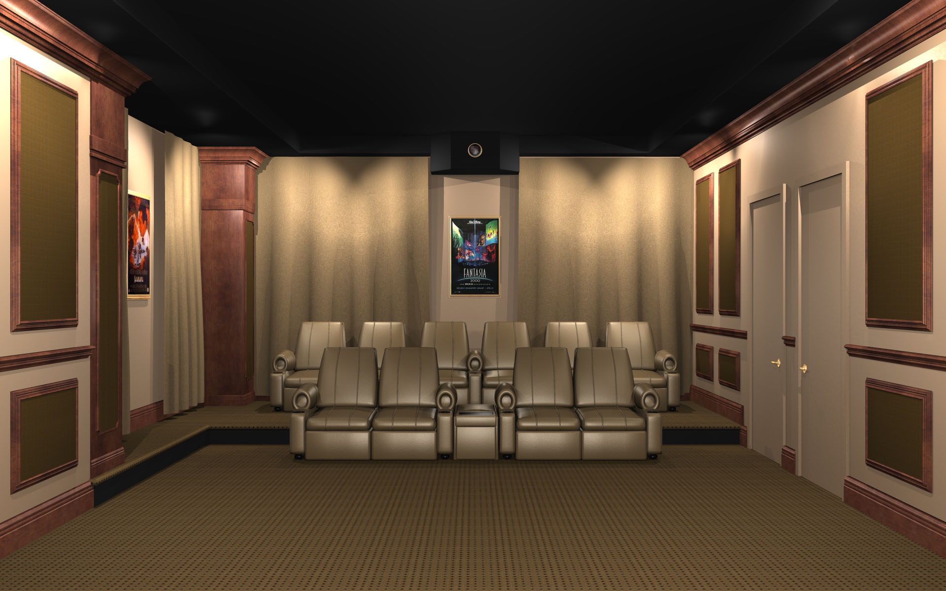 Image of: Acoustic Wall Panels Home Theater