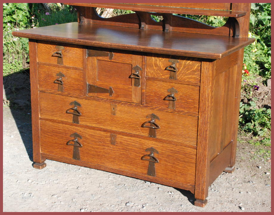 Antique Arts and Crafts Dresser