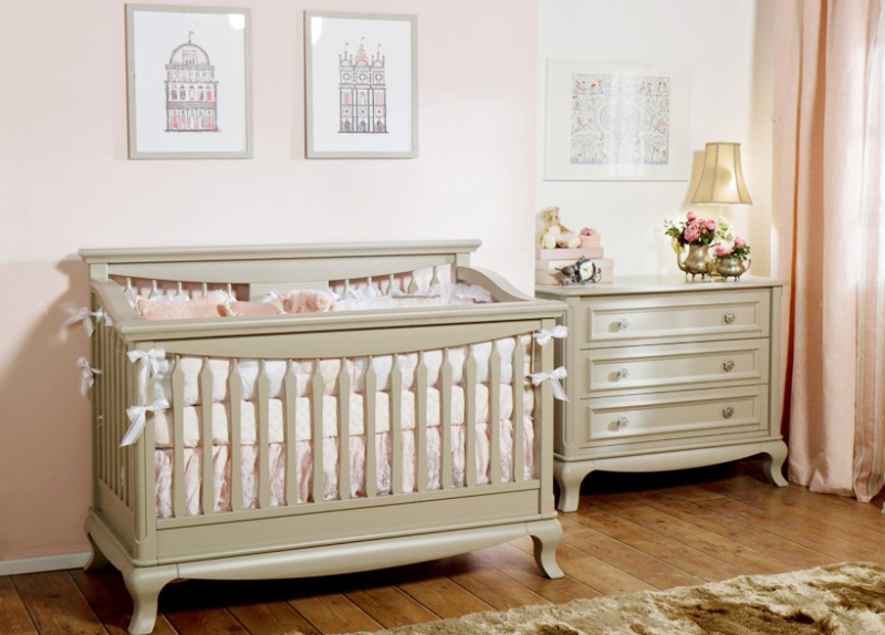 Antique White Dresser And Crib