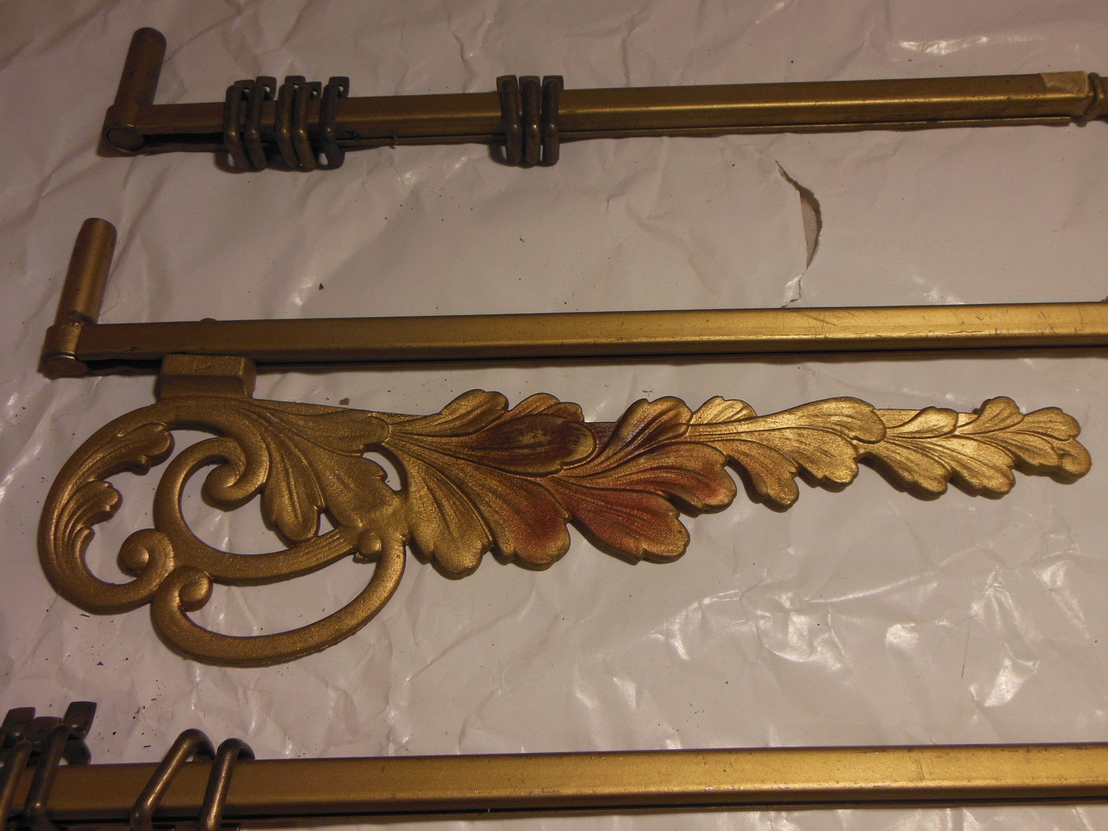 Image of: Antiqued Brass Curtain Rod Iron