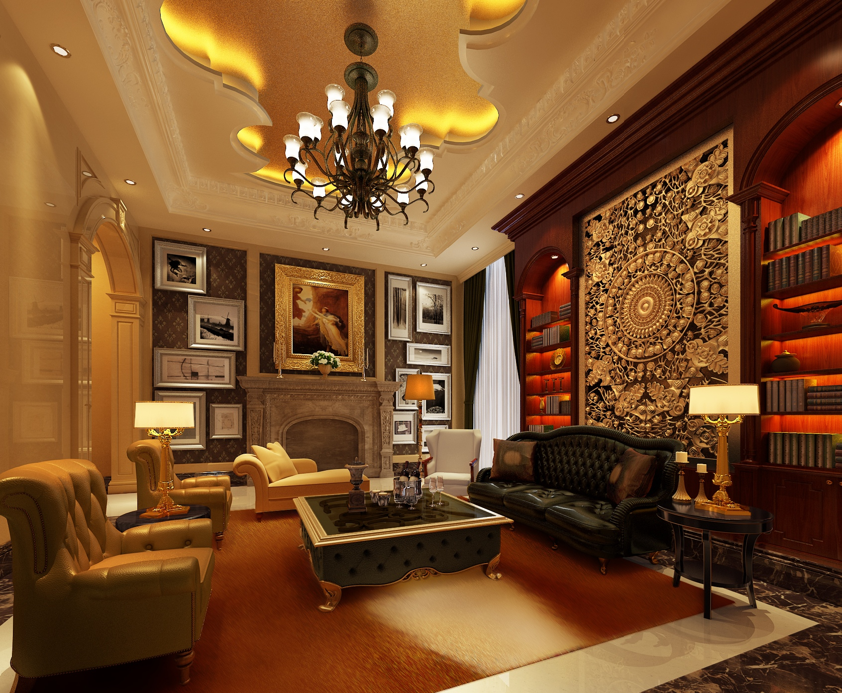 Image of: Apartment Living Room Elegant