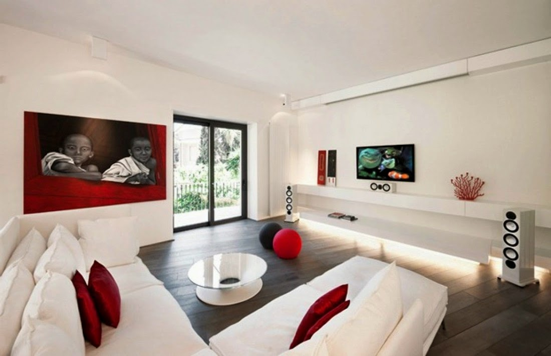 Image of: Apartment Living Room White