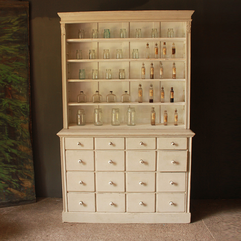 Image of: Apothecary Dresser White