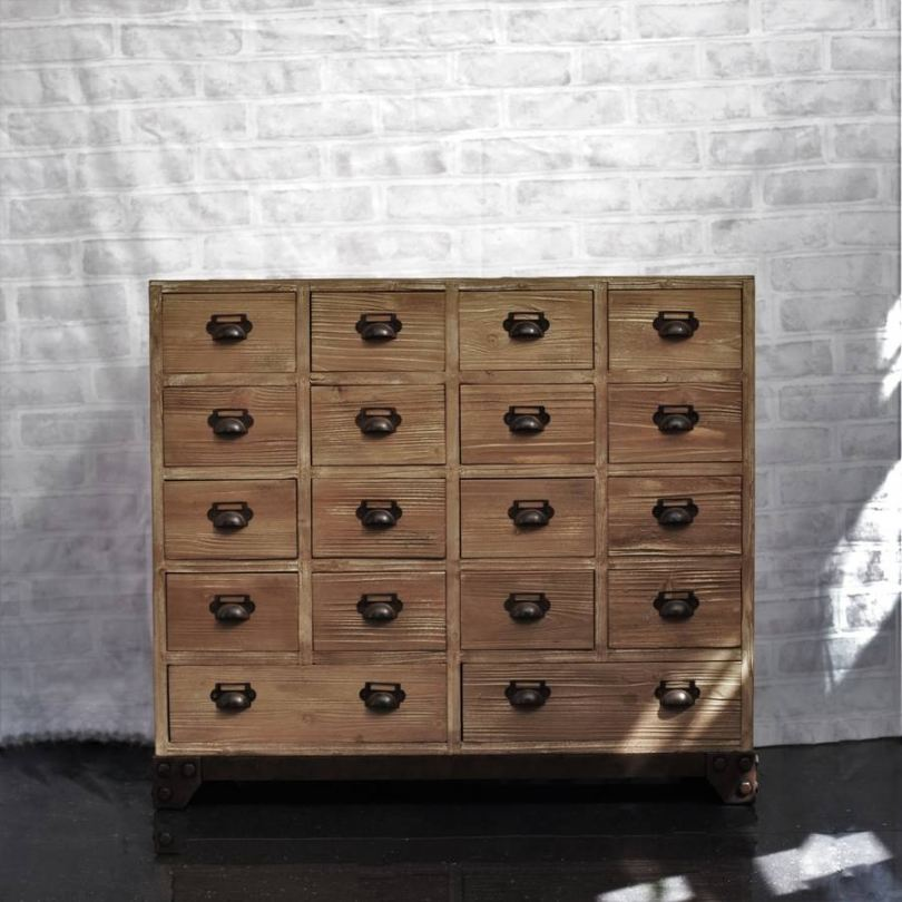 Image of: Apothecary Dresser Wood