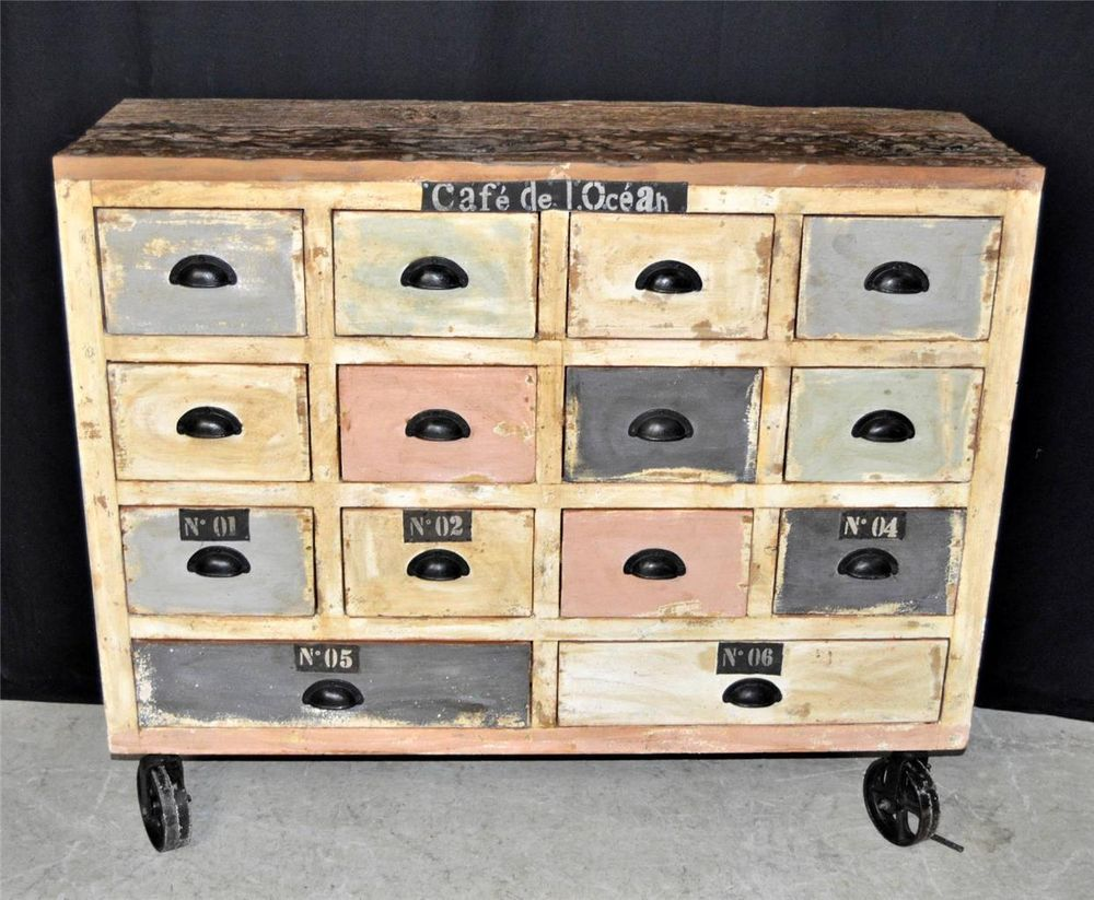 Image of: Apothecary Dresser on Wheel