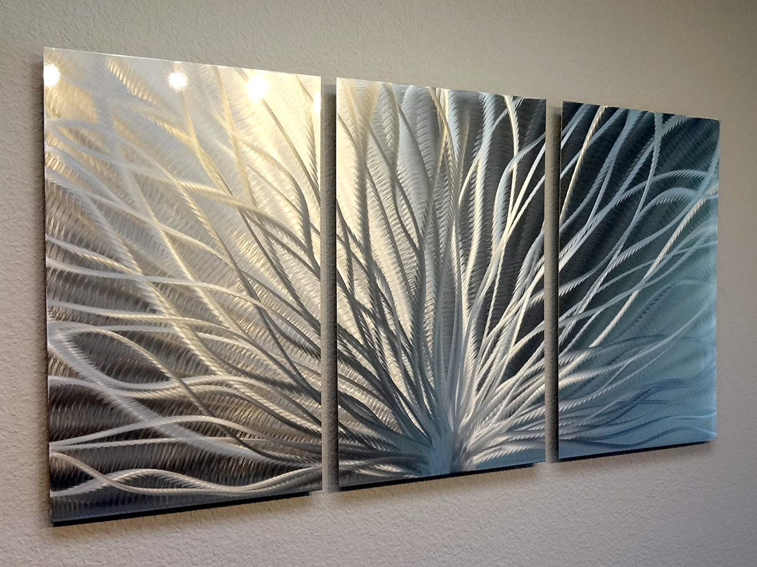 Image of: Awesome Metal Wall Art Panels