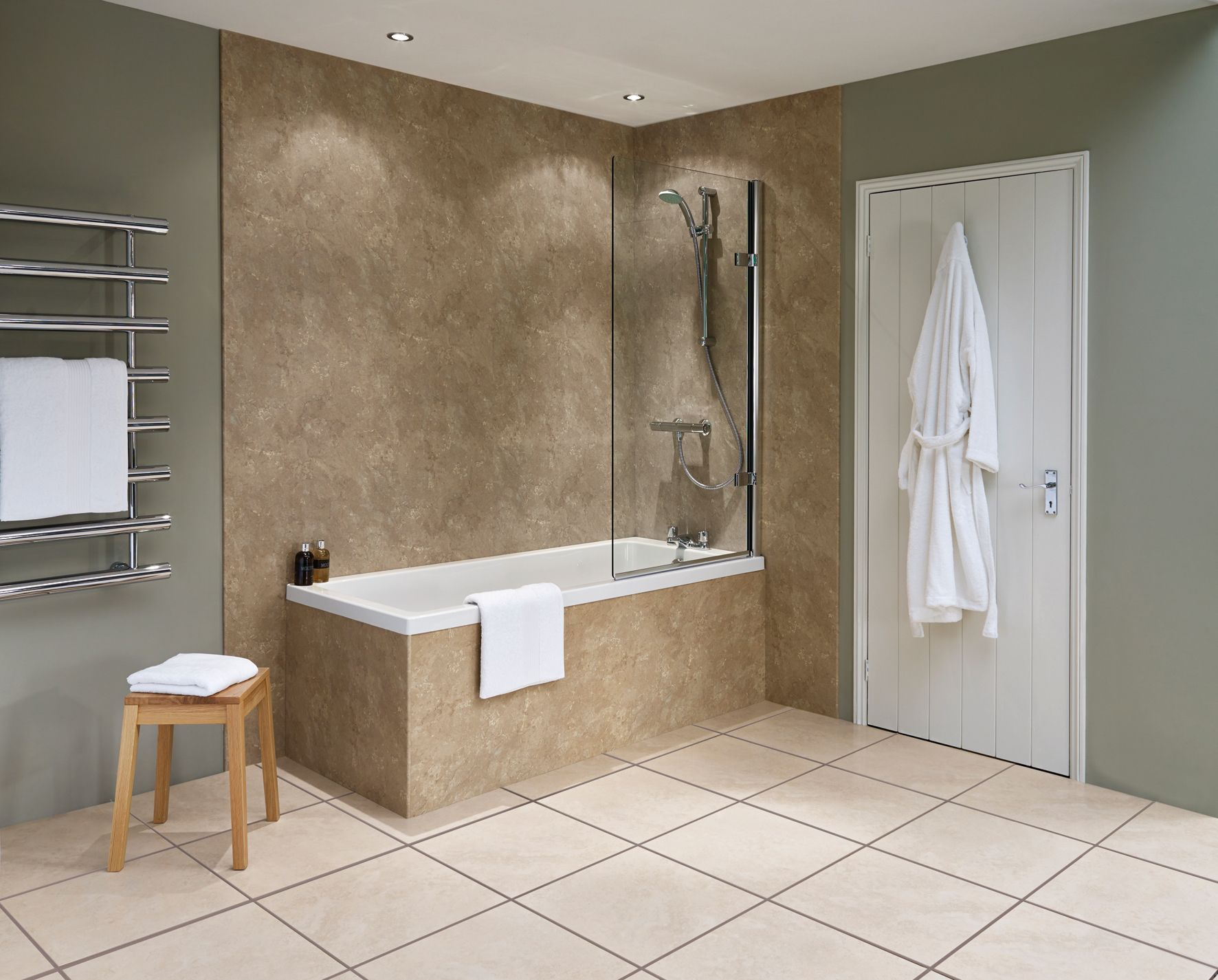 Image of: Awesome Shower Wall Panels