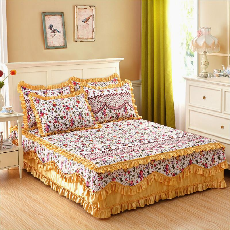Image of: Awesome Yellow Bed Skirt
