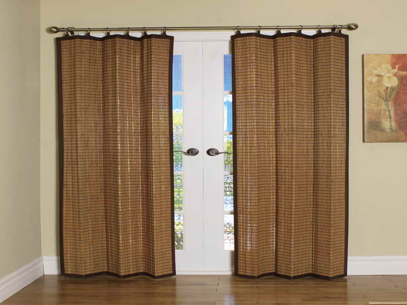 Image of: Bamboo Curtain Panel Decor