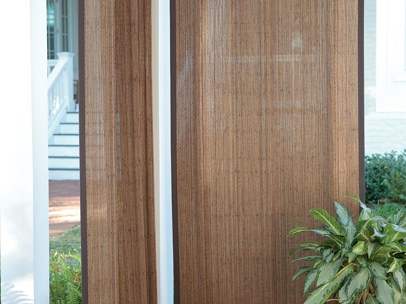 Image of: Bamboo Curtain Panel Design