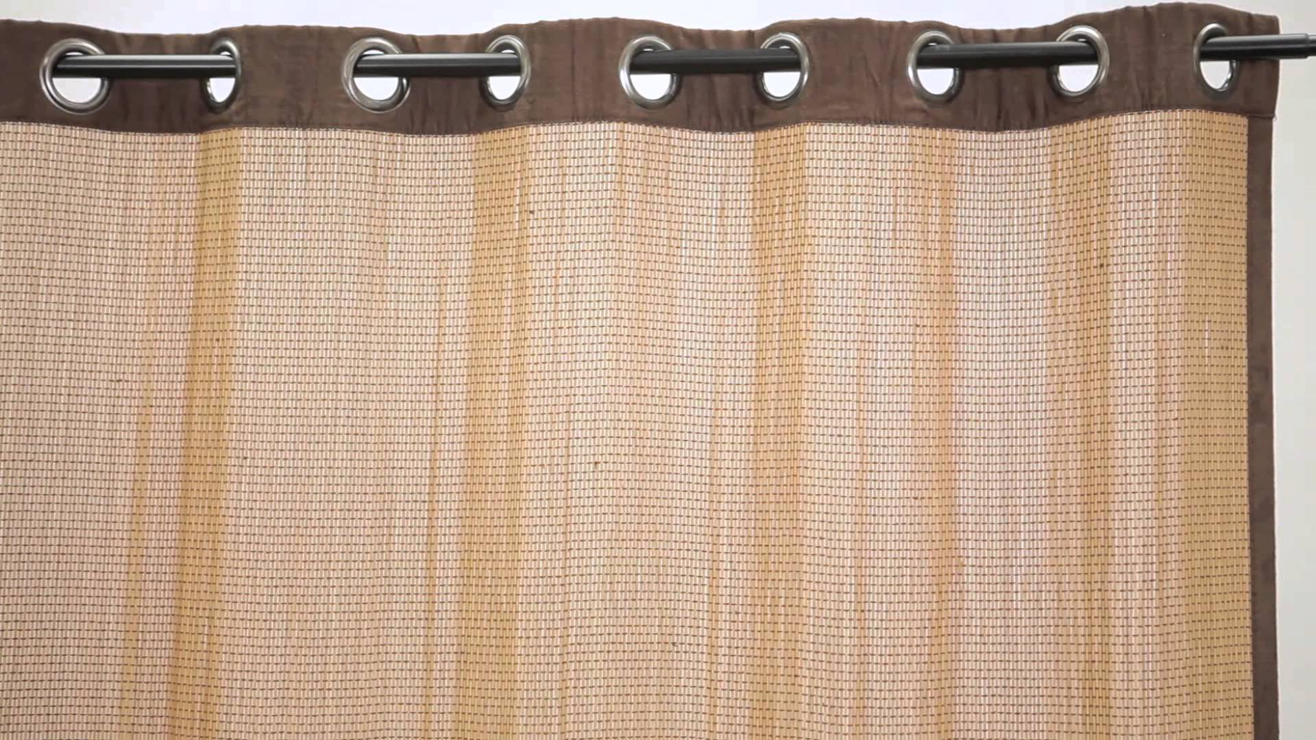 Image of: Bamboo Curtain Panel Detail