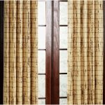Bamboo Curtain Panel Door
