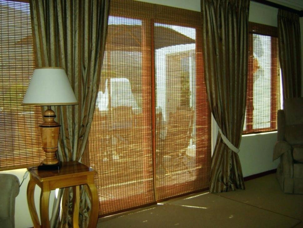 Image of: Bamboo Curtain Panel Rool