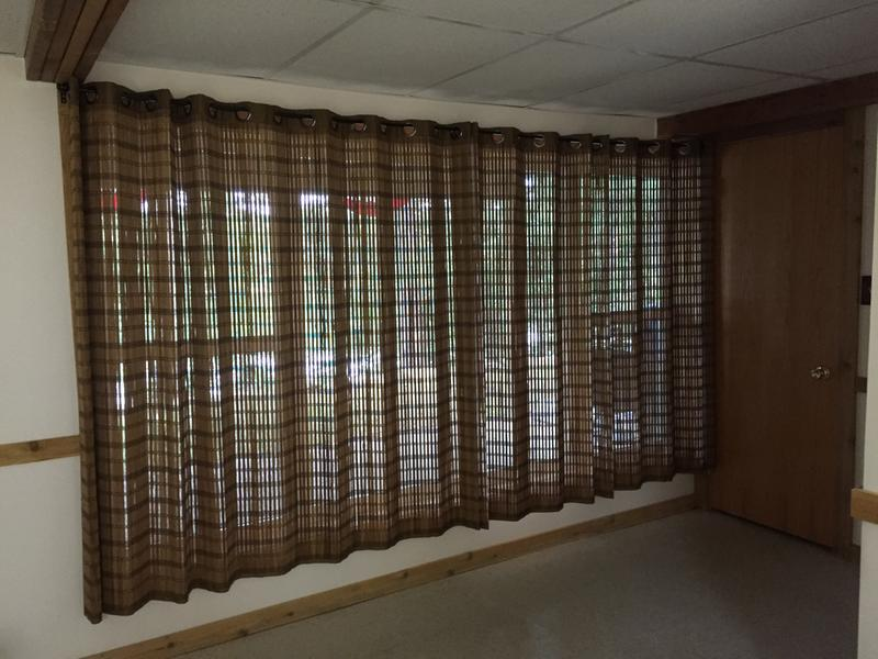 Image of: Bamboo Curtain Panel Simple