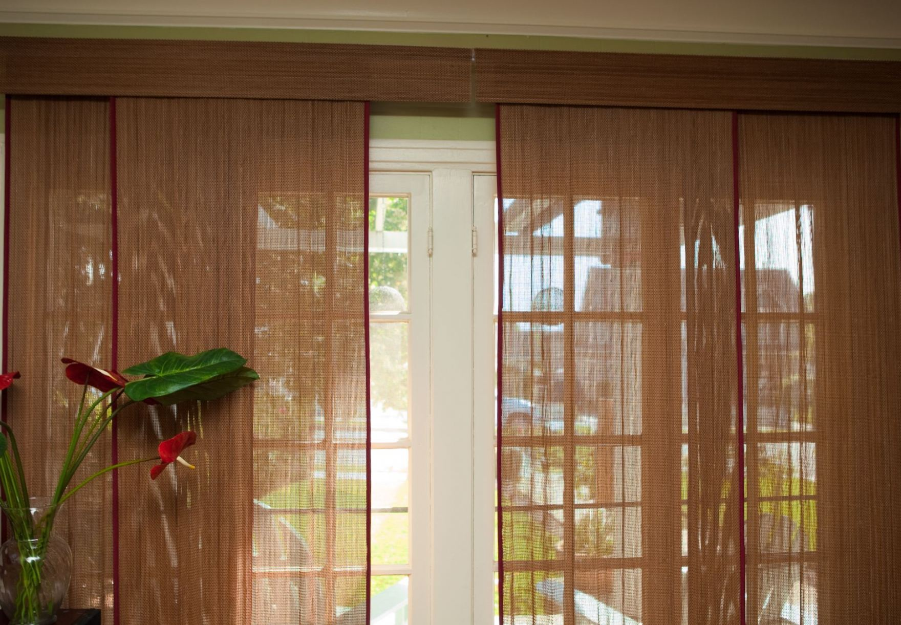 Image of: Bamboo Curtain Panel Vertical