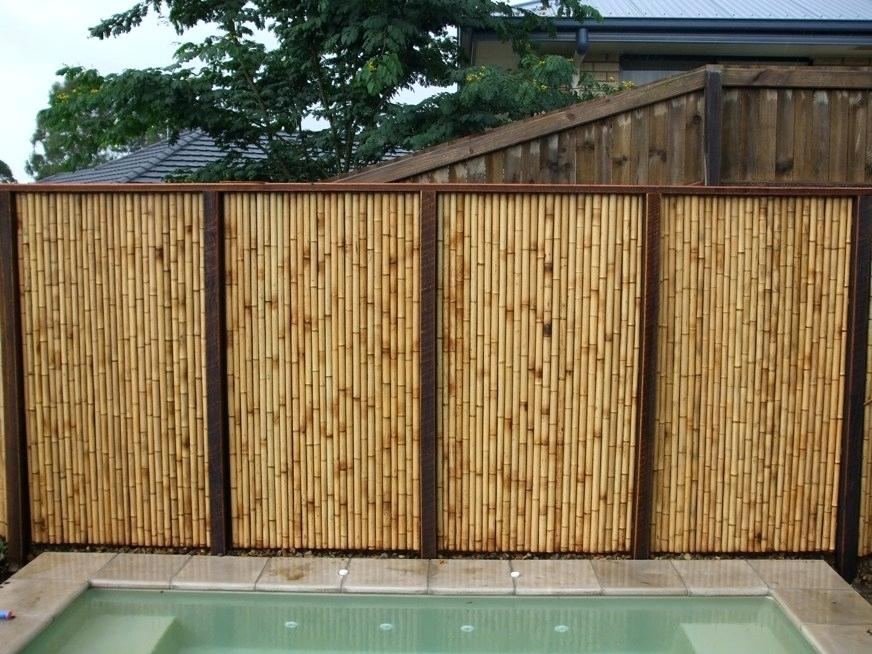 Image of: Bamboo Wall Panels Outdoor
