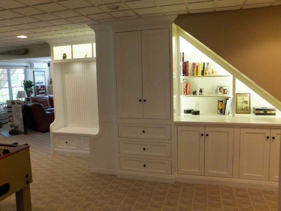 Image of: Basement Storage Ideas with Doors