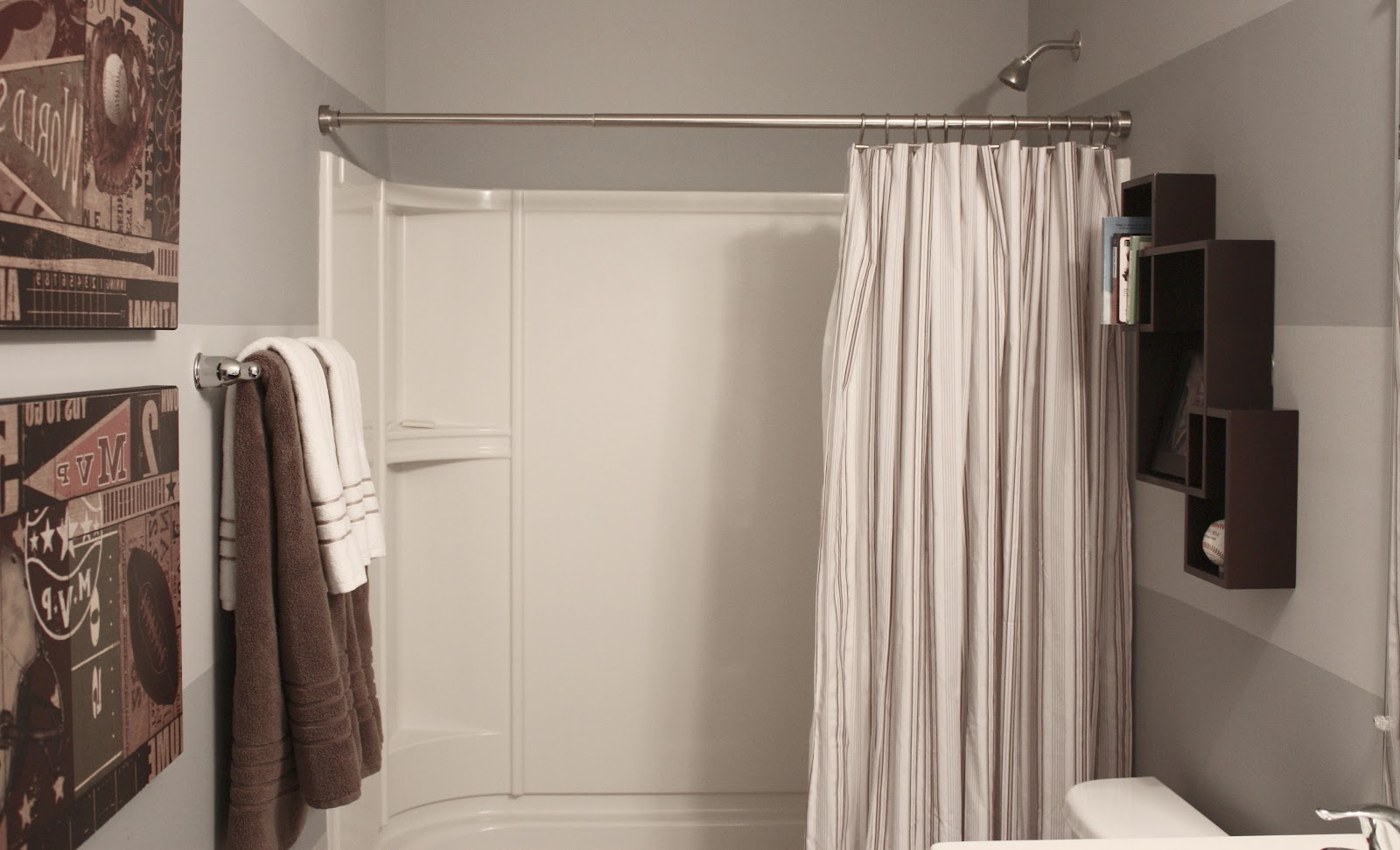 Image of: Bathroom Curtain Decor