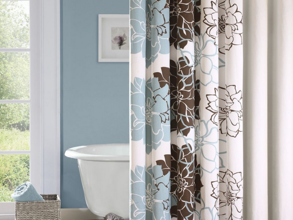 Image of: Bathroom Curtain Elegant
