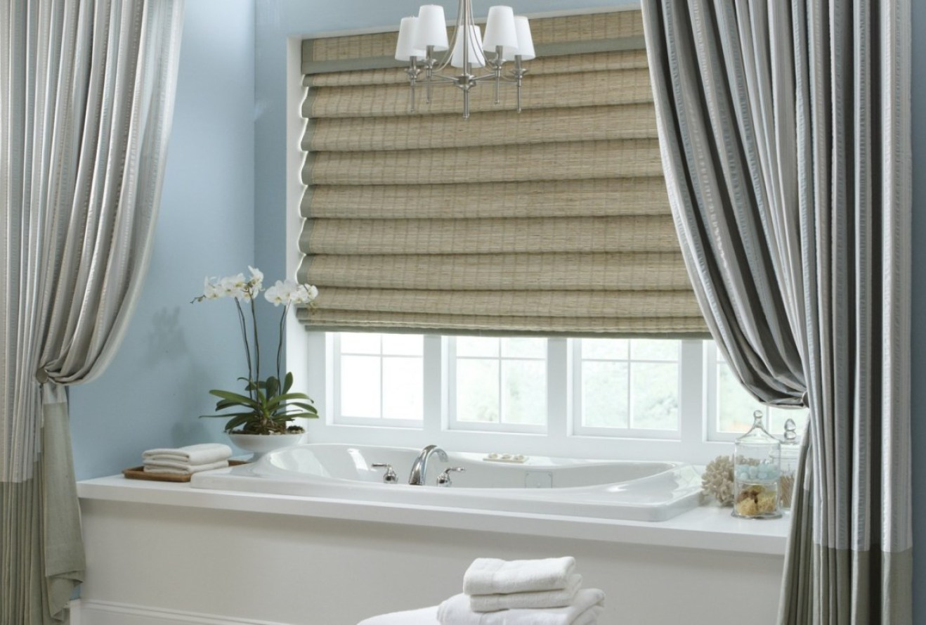 Image of: Bathroom Curtain Grey