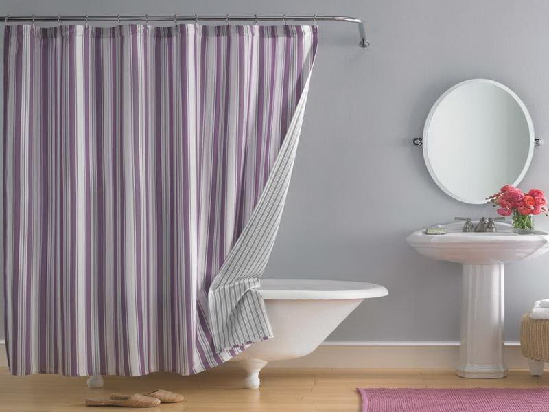 Image of: Bathroom Curtain Ideas
