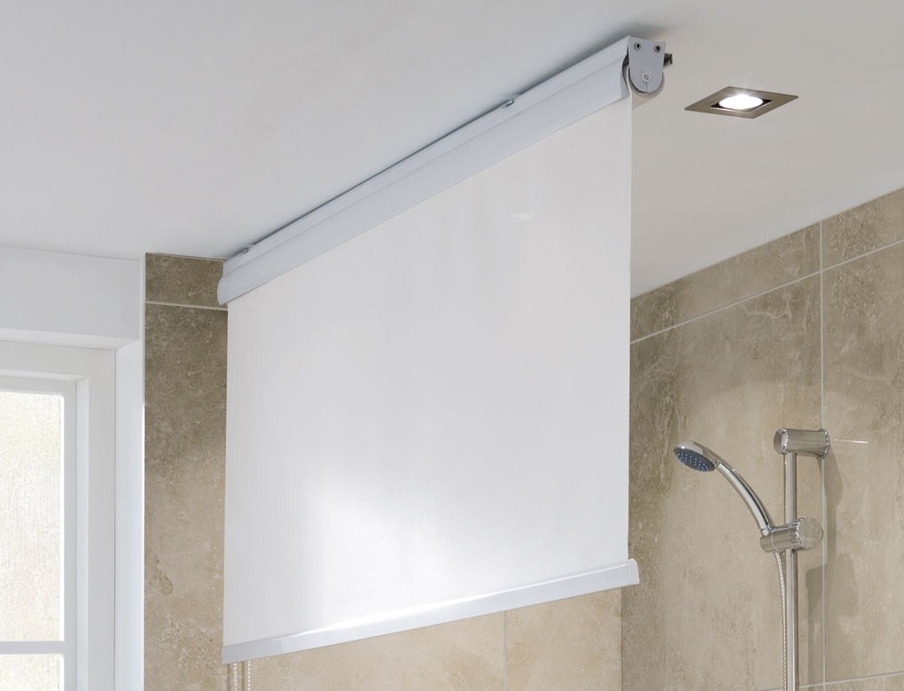 Image of: Bathroom Curtain Rool