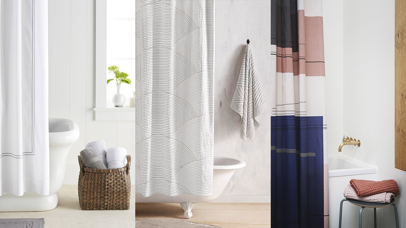 Image of: Bathroom Curtain Stylish