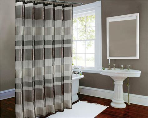 Image of: Bathroom Curtain White