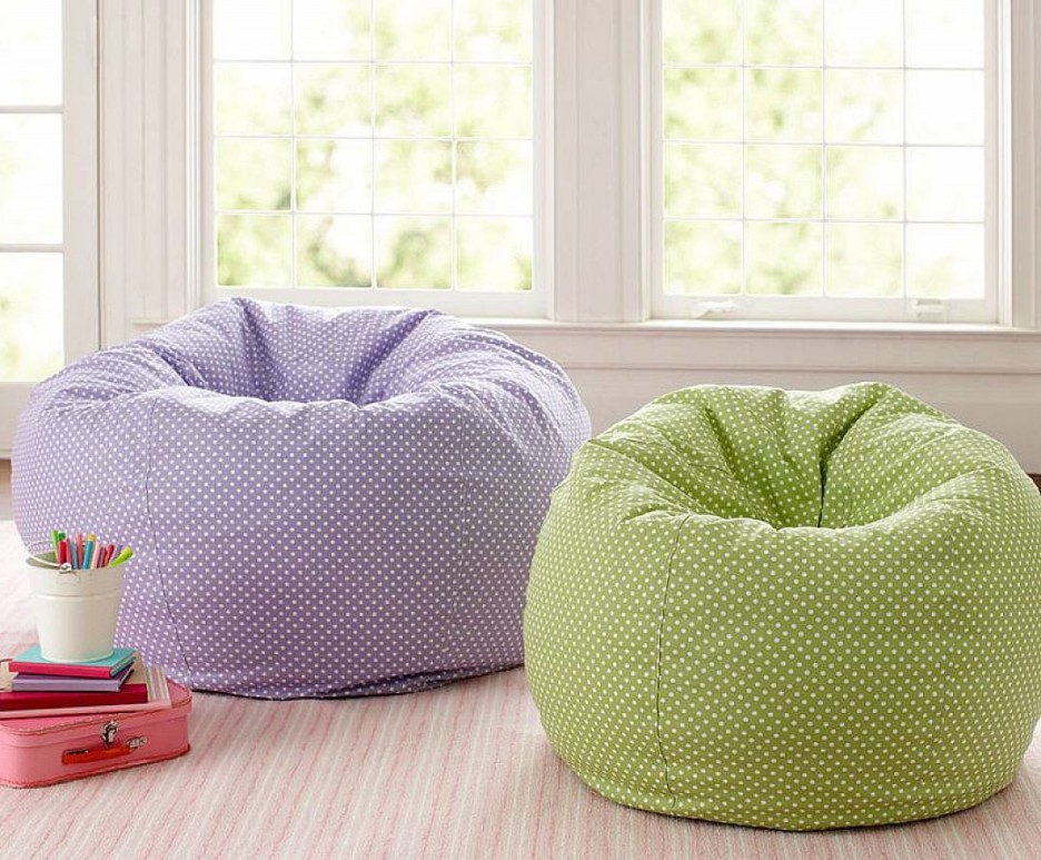 Image of: Bean Bag Living Room Cozy
