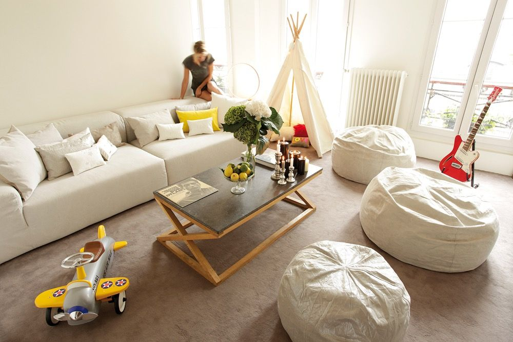 Image of: Bean Bag Living Room Minimal