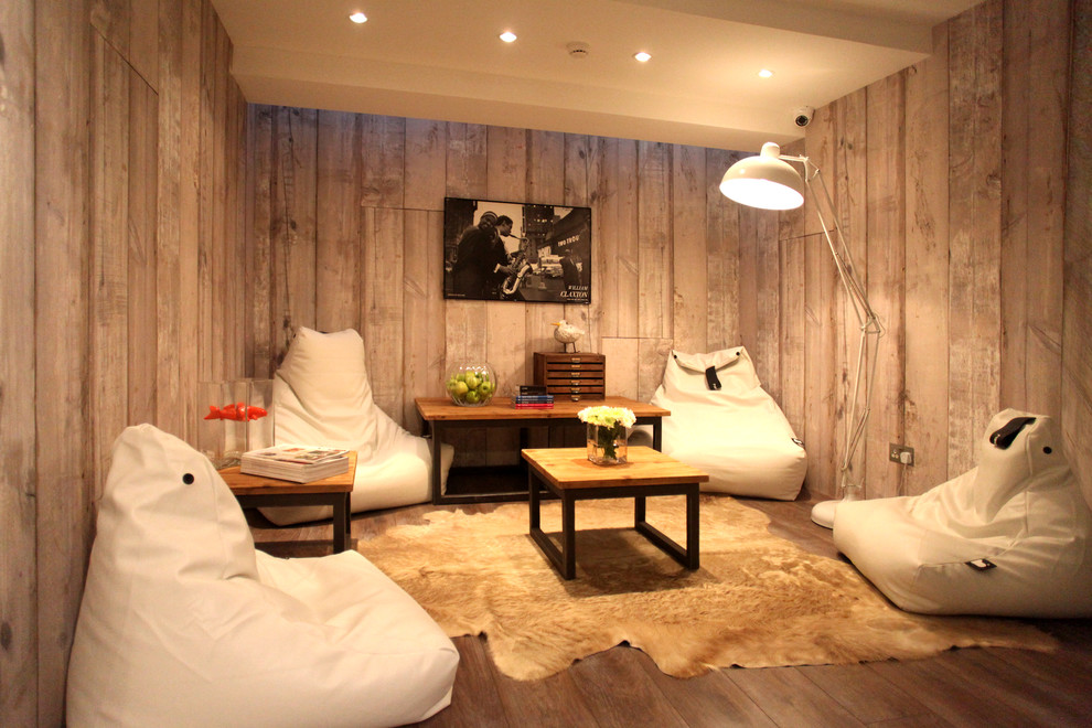 Bean Bag Living Room Wood