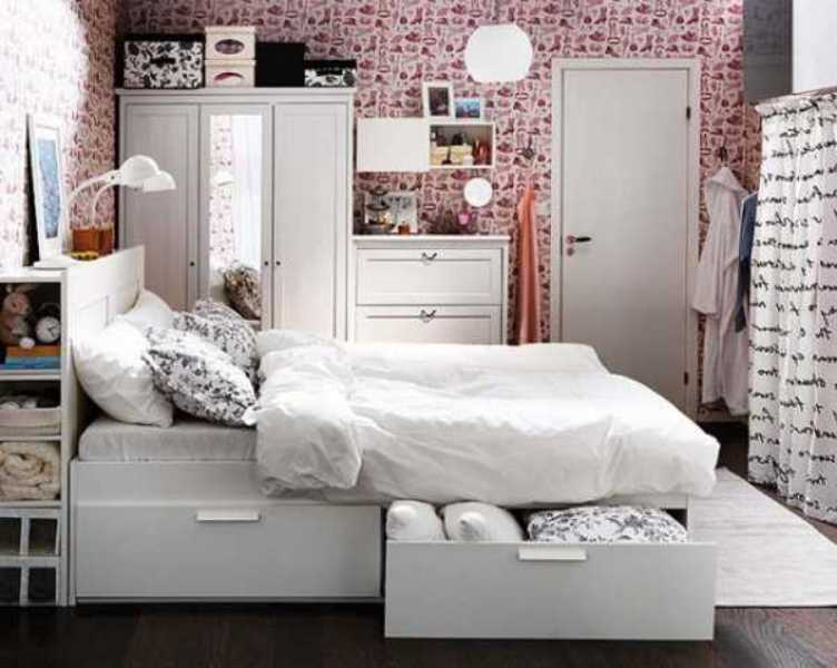 Image of: Bedroom Storage Ideas Small Spaces